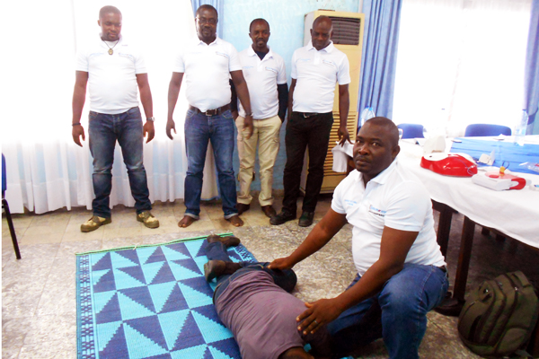 First Aid Training Satelec Fayat - Cameroon 06